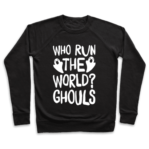 Who Run The Word Ghouls Parody White Print