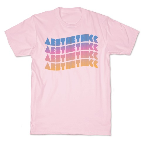Aesthethicc Thicc Aesthetic Mens/Unisex T-Shirt