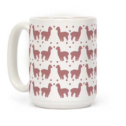 Llama Dusty Rose Boho Pattern Coffee Mug