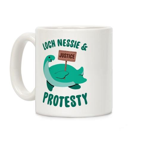 Loch Nessie & Protesty Coffee Mug