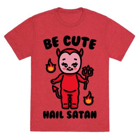 Be Cute Hail Satan Kewpie Parody T-Shirt