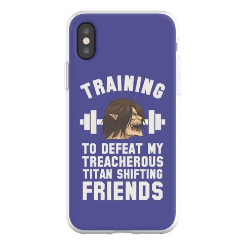 Training to Defeat My Treacherous Titan shifting Friends Phone Flexi-Case