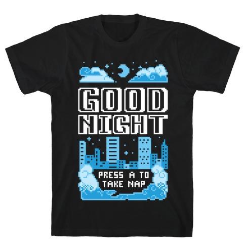 Good Night Game Over Screen Mens/Unisex T-Shirt