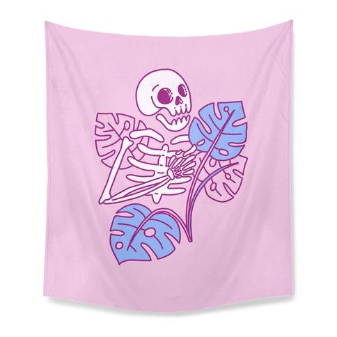 Monstera Skeleton Tapestry