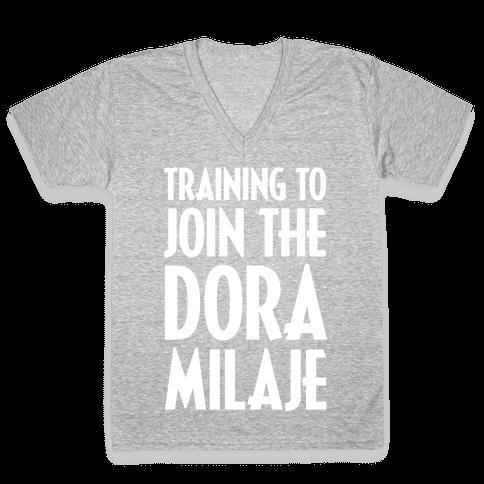 Training To Join The Dora Milaje V-Neck Tee Shirt