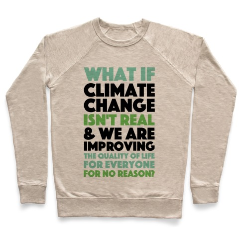 What If Climate Change Isn't Real Pullover