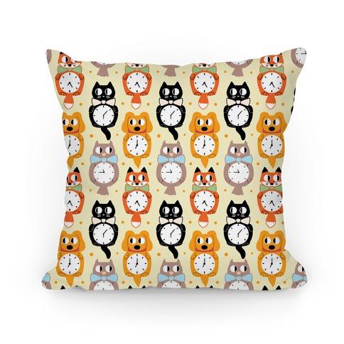 Animal Clock Pattern Pillow