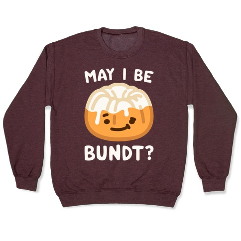May I Be Bundt White Print Pullover