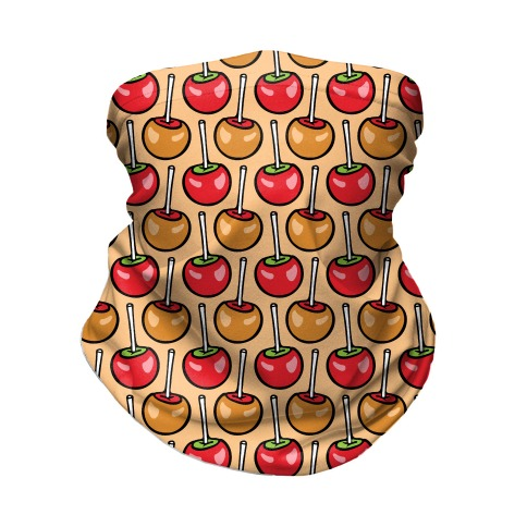 Caramel and Candy Apple Pattern Neck Gaiter