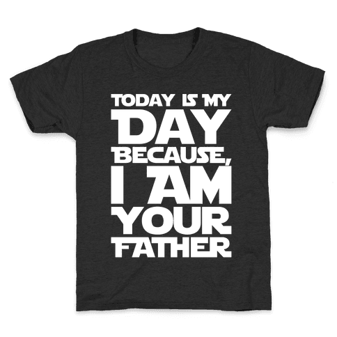 I Am Your Father Father's Day Parody White Print Kids T-Shirt