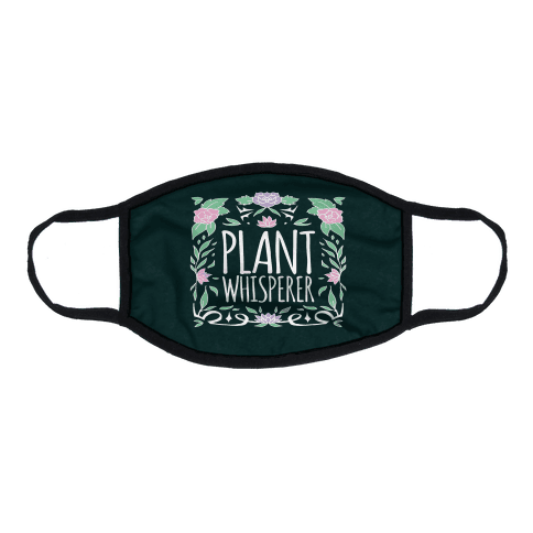 Plant Whisperer Flat Face Mask