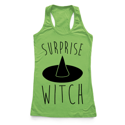 Surprise Witch Parody Racerback Tank Top