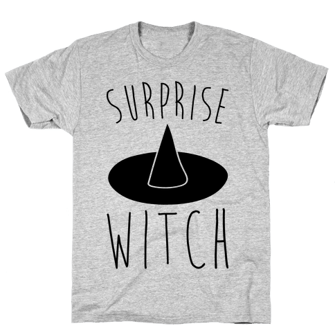 Surprise Witch Parody Mens T-Shirt