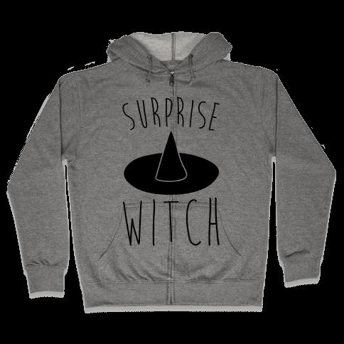 Surprise Witch Parody Zip Hoodie