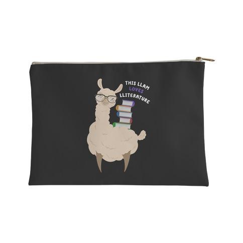 This Llam Loves Lliterature Accessory Bag