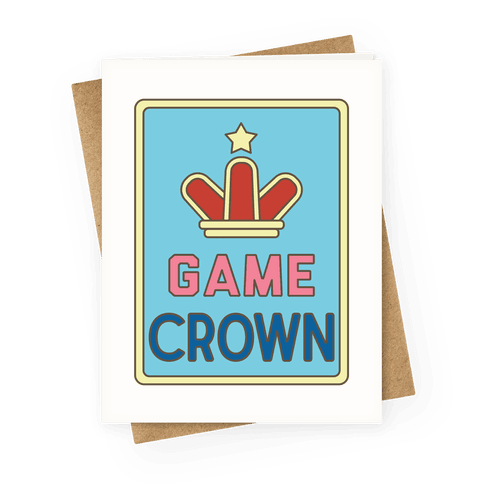 Game Crown Greeting Card