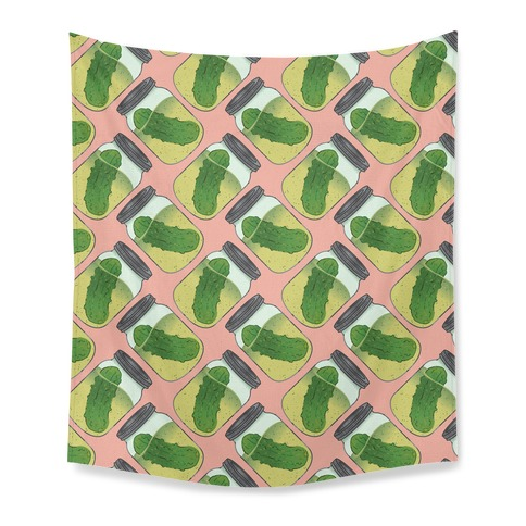 Perfect Pickle Pattern Tapestry