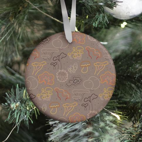 Fall Mushrooms (Medium)  Ornament