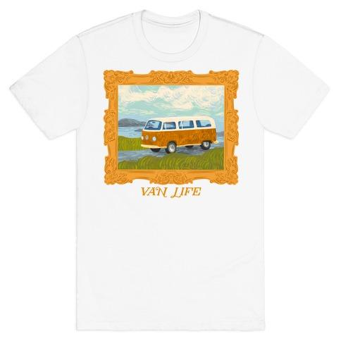 Van Life Van Gogh (with Text) T-Shirt
