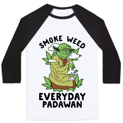 Smoke Weed Everyday Padawan Baseball Tee