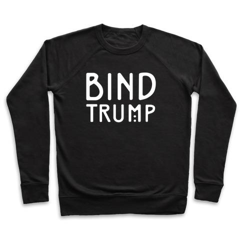 Bind Trump White Print Pullover