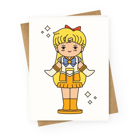 Sailor Venus Pocket Parody Greeting Card