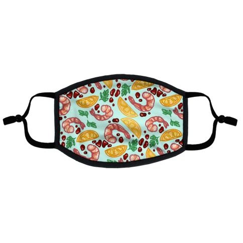 Shrimp Cocktail Pattern Flat Face Mask