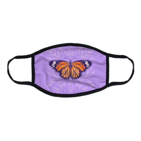 Purple Solo Monarch Flat Face Mask
