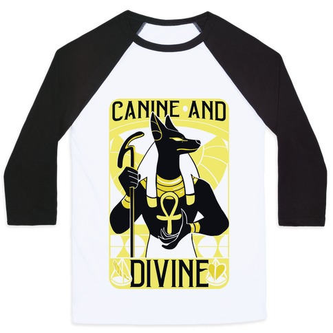 Canine and Divine Baseball Tee