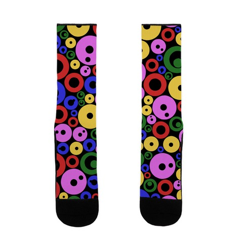 Bloobles Dark Pattern Sock