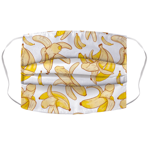 Banana penis pattern Face Mask Cover
