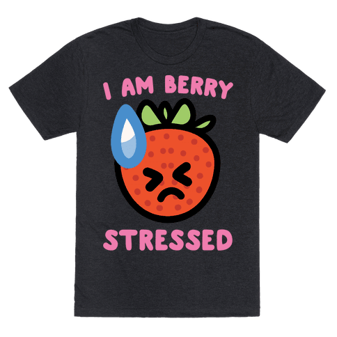 I'm Berry Stressed White Print