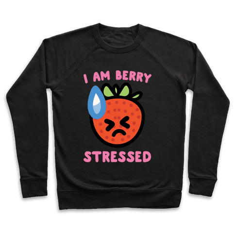 I'm Berry Stressed White Print Pullover