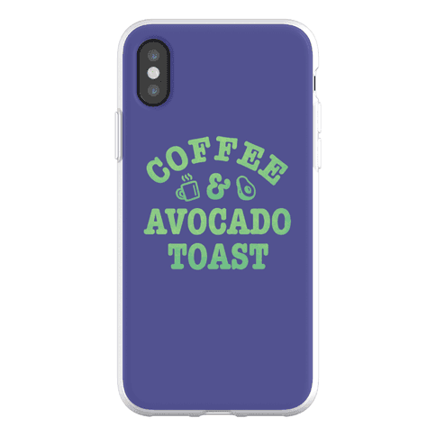Coffee & Avocado Toast Phone Flexi-Case