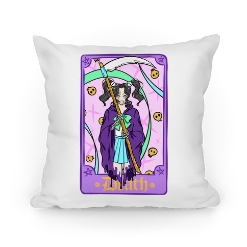 Pastel Goth Death Tarot Card Pillow