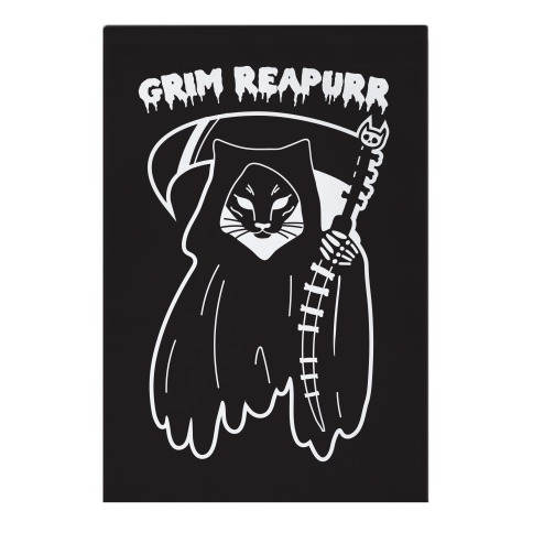 Grim Reapurr Cat Garden Flag