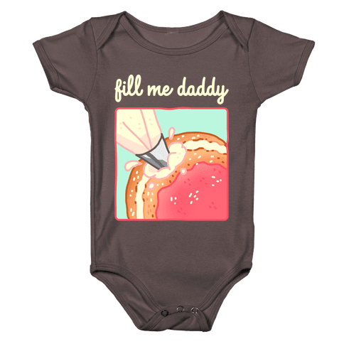 Fill Me Daddy (Donut) Baby One-Piece