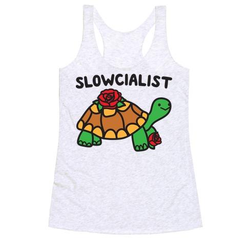 Slowcialist Turtle Racerback Tank Top