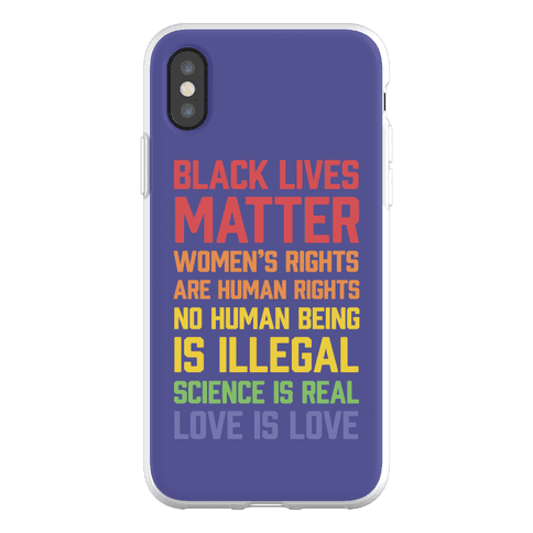 Black Lives Matter List Phone Flexi-Case