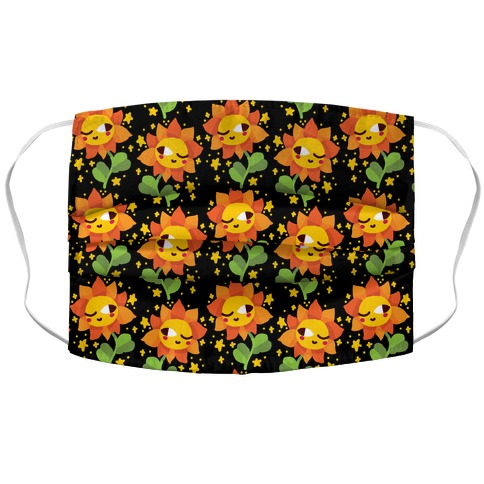 Winky Flower Pattern Accordion Face Mask