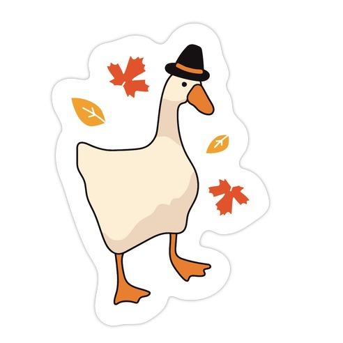 Happy Honksgiving Goose Die Cut Sticker