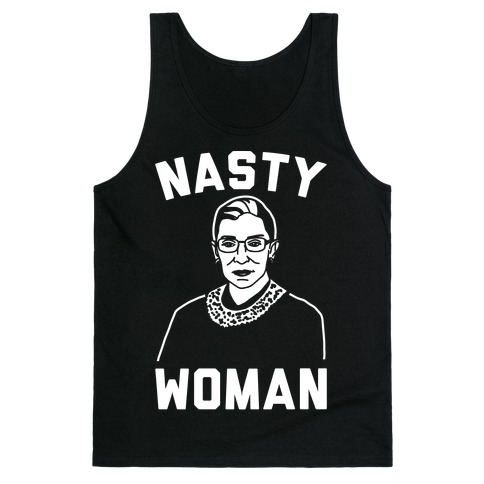 Nasty Woman RBG White Print Tank Top
