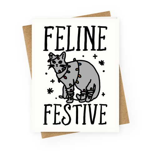 Feline Festive Greeting Card