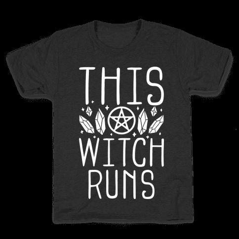 This Witch Runs Kids T-Shirt