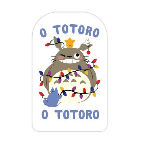 O Totoro, O Totoro Die Cut Sticker