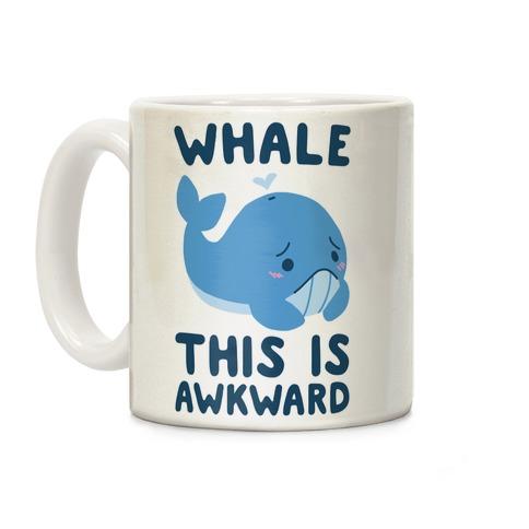 Whale, This is Awkward Coffee Mug