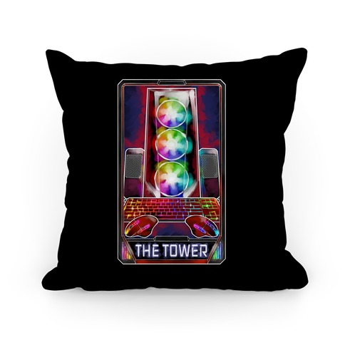 The Gaming Tower Tarot Card Pillow