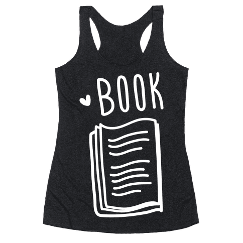 Book Buds 1 (White) Racerback Tank Top