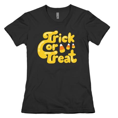 Retro Trick or Treat Womens T-Shirt