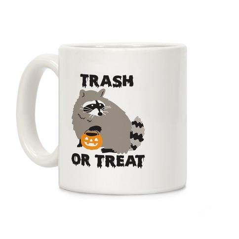 Trash Or Treat Raccoon Coffee Mug